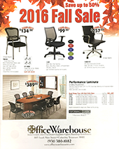 Office Furniture Sale Flyer from Office Warehouse in Columbia TN 38401